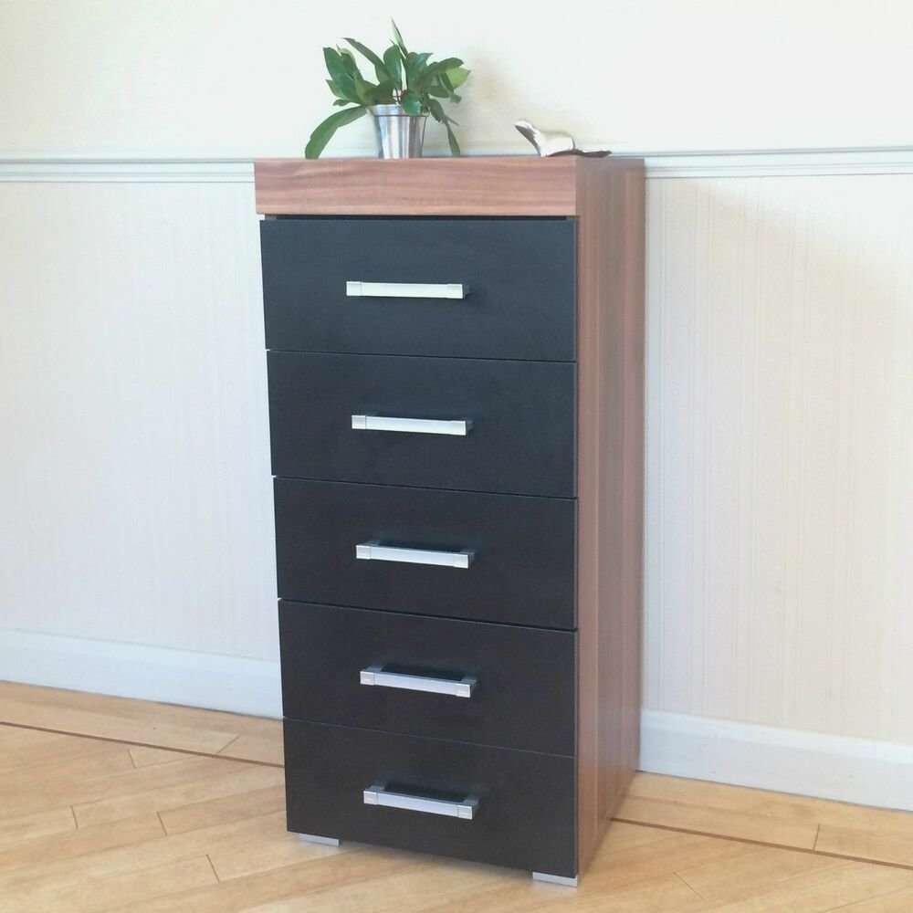 Best Black Walnut Tall Boy Chest Of 5 Drawers Bedroom With Pictures