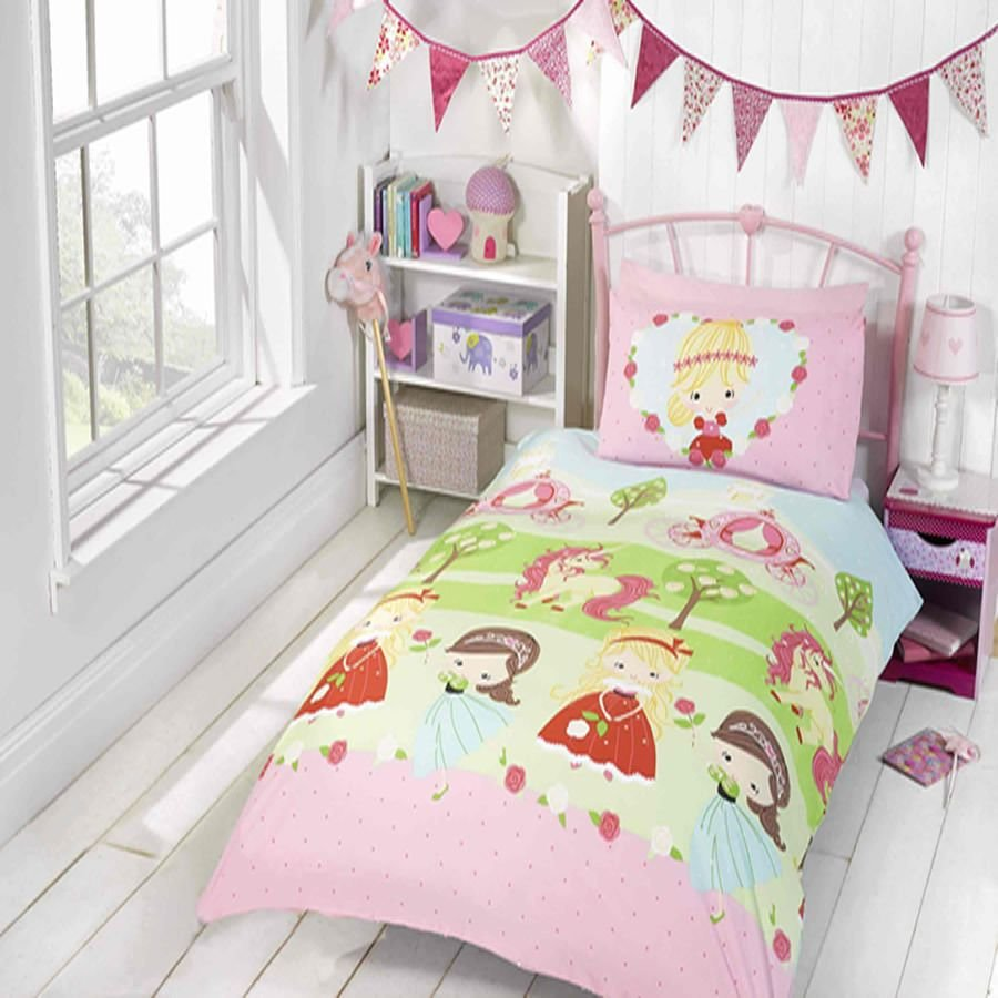Best Pretty Princess And Unicorn Girls Kids Bedroom Bedding With Pictures