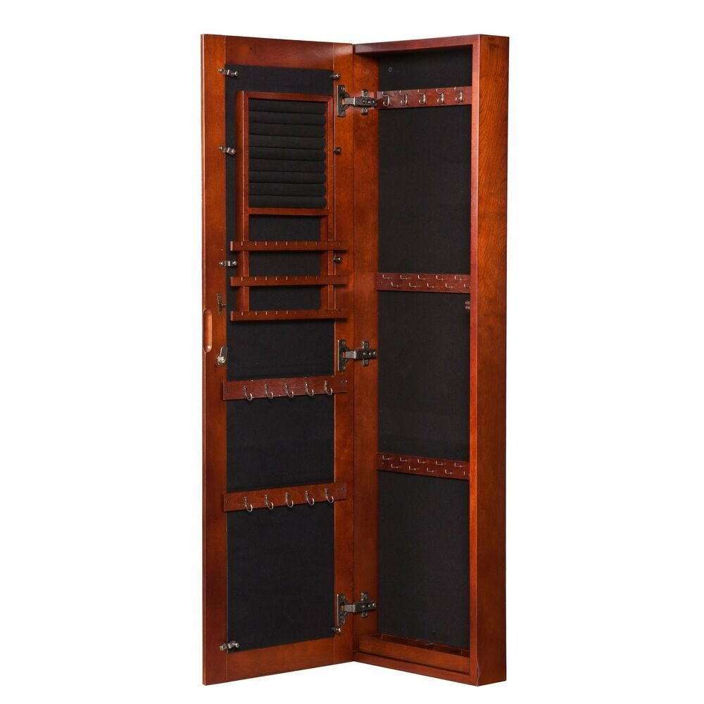 Best Armoire Jewelry Storage Cabinet Bedroom Furniture Cherry With Pictures