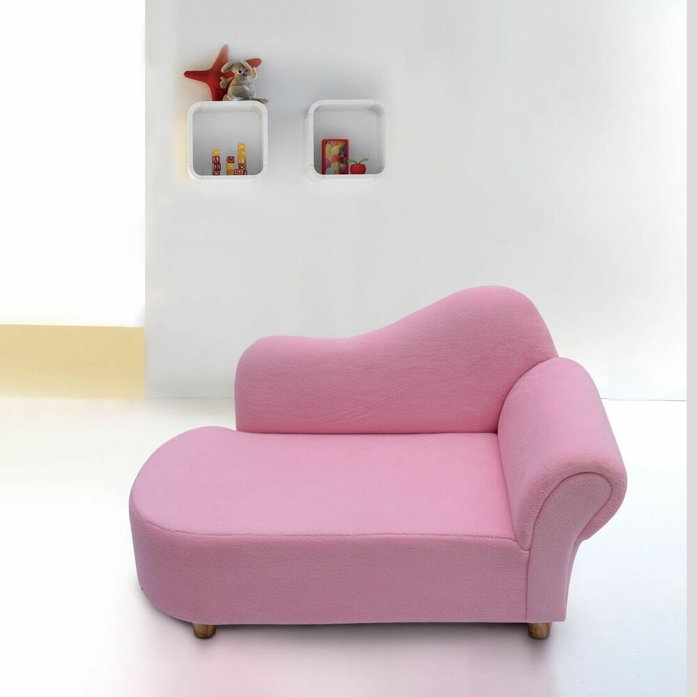 Best Children Kids Velvet Chaise Lounger Sofa Day Bed Bedroom With Pictures