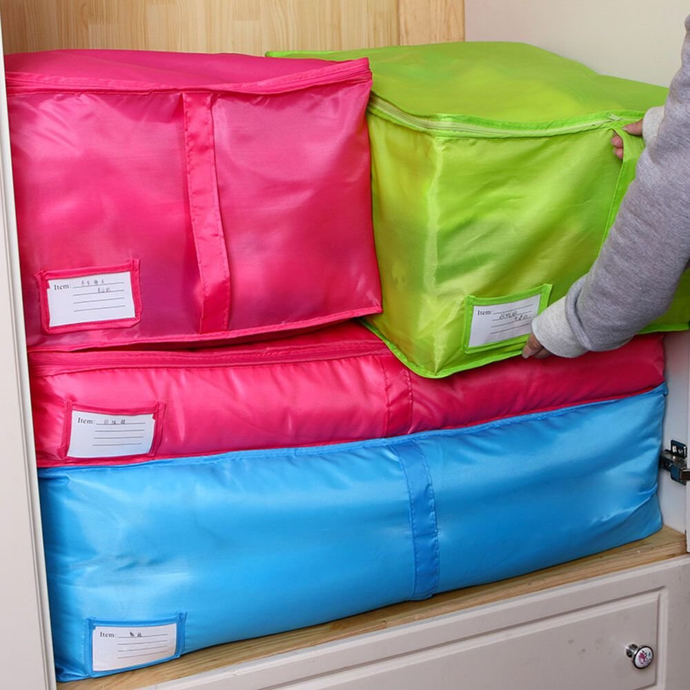 Best Large Clothes Storage Bags Polyester Quilt Bedding Duvet With Pictures