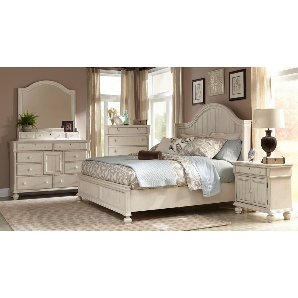 Best Greyson Living Laguna Antique White Panel Bed 6 Piece Bedroom Set Ebay With Pictures