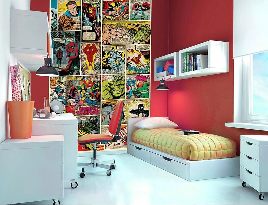 Best Marvel Comic Kids Fun Wallpaper Mural Photo Wall Paper With Pictures