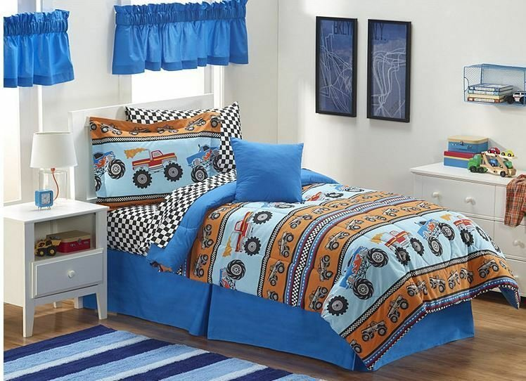Best Boy S Monster Truck Bedroom Ensemble Ebay With Pictures