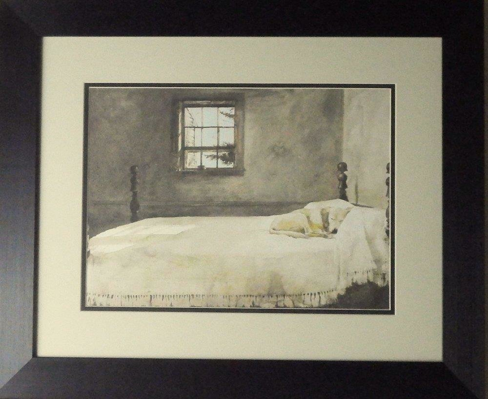 Best Andrew Wyeth Master Bedroom Dog Bed Print Framed 23 5 X 19 With Pictures