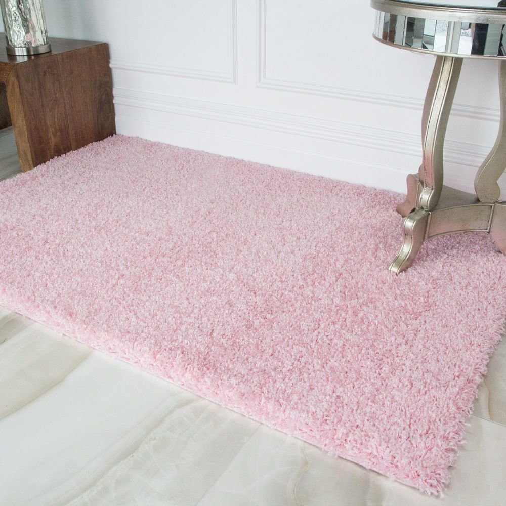 Best Soft Fluffy Thick Kids Pink Shaggy Rugs Baby Pink Shaggy With Pictures