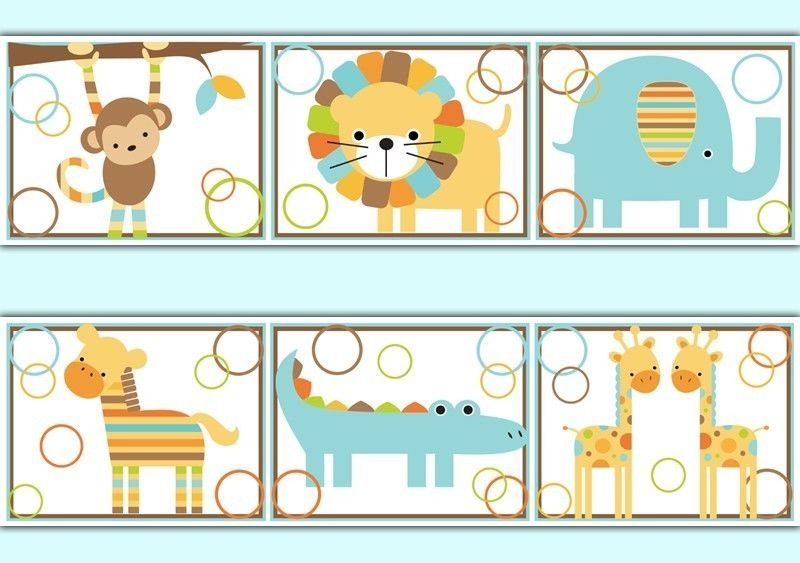 Best Jungle Wallpaper Border Decals Baby Boy Safari Animal Zoo With Pictures