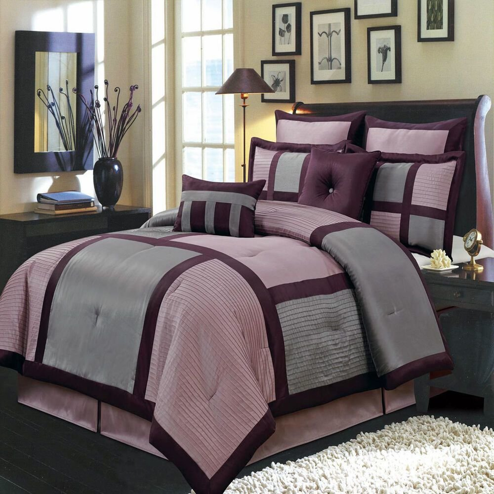 Best Morgan Purple 8 Pc Bedding Set Includes Comforter Skirt With Pictures