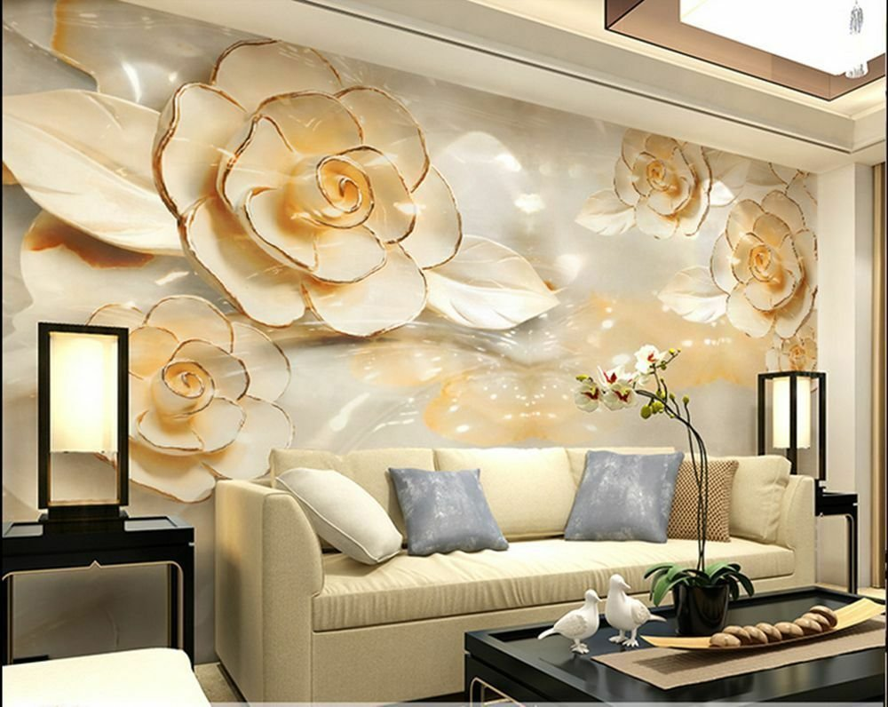Best 3D Wallpaper Bedroom Mural Roll Modern Luxury Flower With Pictures