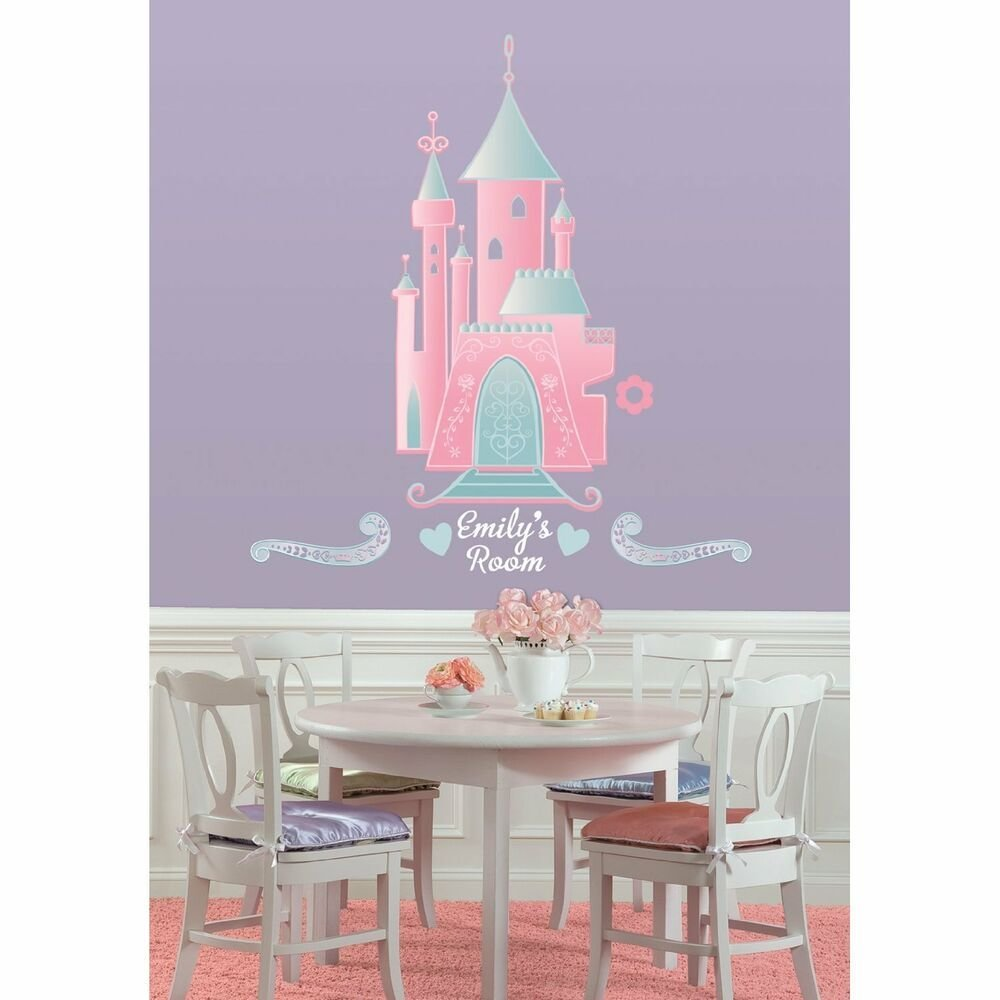 Best Disney Princess Castle Big Wall Stickers Personalized Name With Pictures