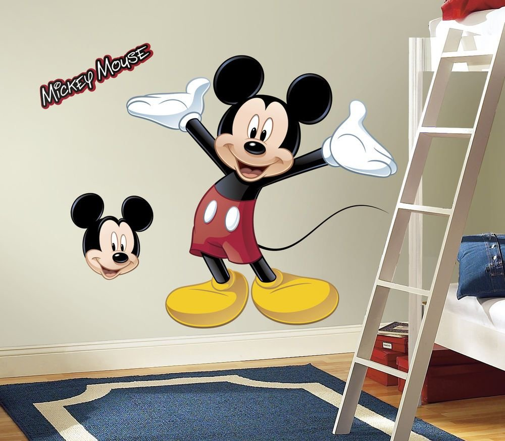 Best New Giant Mickey Mouse Wall Decal Disney Bedroom Stickers With Pictures