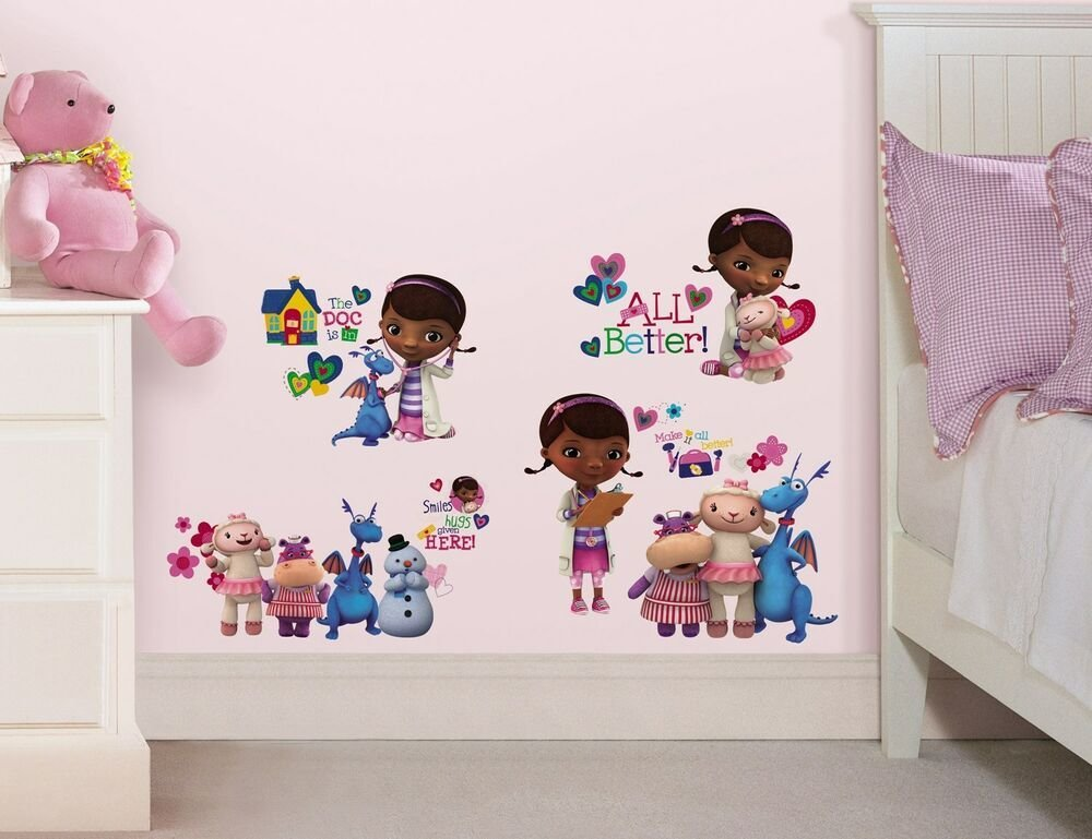 Best 27 New Doc Mcstuffins Wall Decals Disney Bedroom Stickers With Pictures