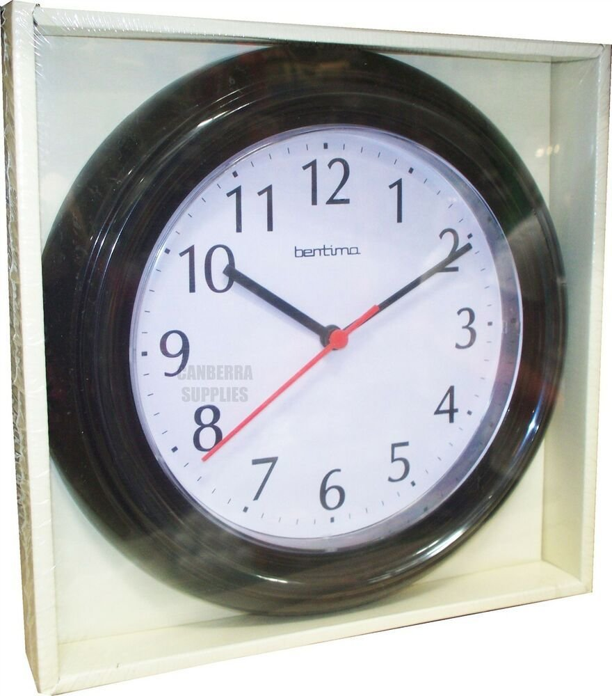 Best Wycombe Wall Clock Kitchen Bathroom Bedroom Office Black With Pictures
