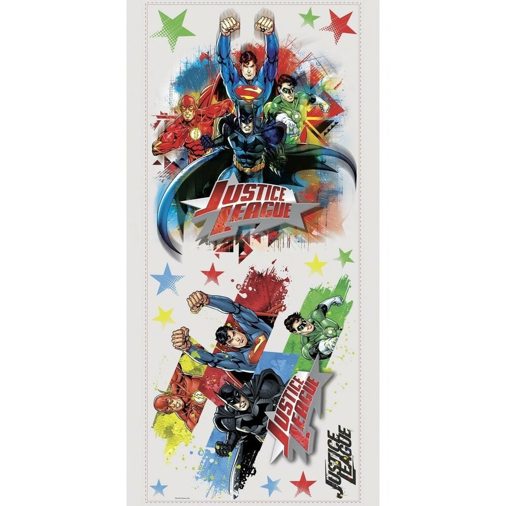 Best Justice League Giant Wall Decals Superman Batman Room With Pictures