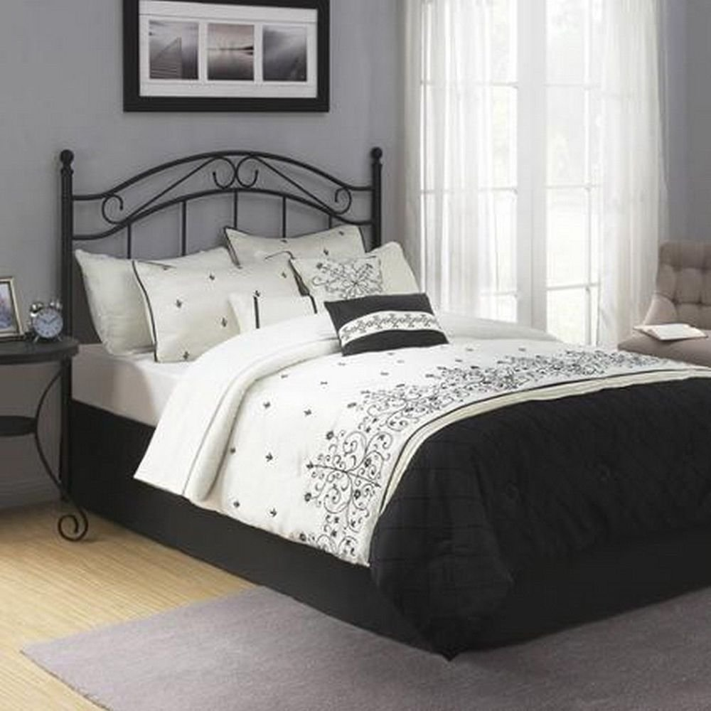 Best Traditional Metal Black Full Queen Size Headboard Bed With Pictures