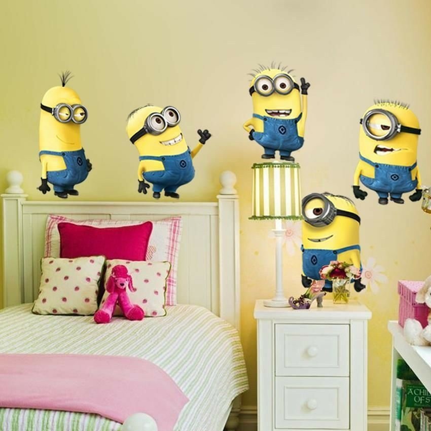 Best 5 Minions Despicable Me 2 Removable Wall Stickers Decal With Pictures