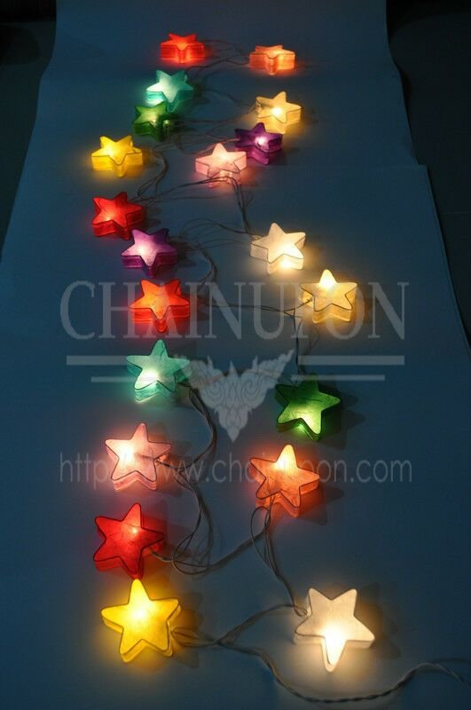 Best Fancy Star Paper Lantern String Party Patio Fairy Decor With Pictures