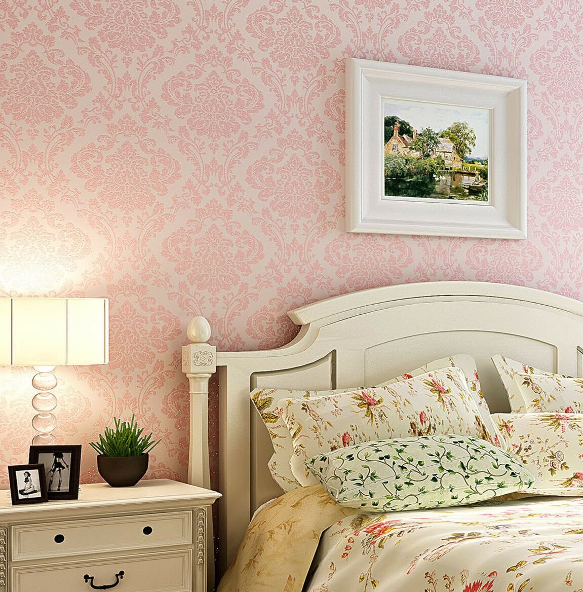 Best Luxury Victorian Vintage Light Pink Damask Nonwoven With Pictures