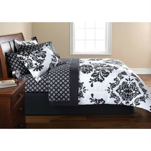 Best French Damask Black White Queen Bedding Comforter Set Ebay With Pictures