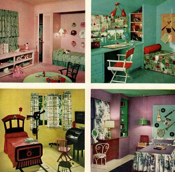 Best Chronically Vintage Four Marvelously Colourful 1950S Children S Bedrooms With Pictures