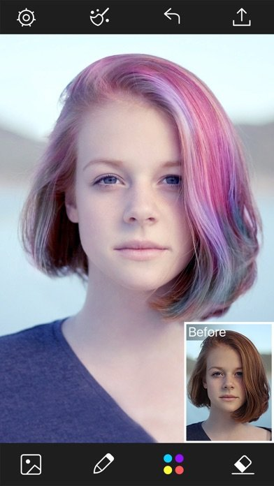 Free Hair Color Changer Styles Salon Recolor Booth App Wallpaper