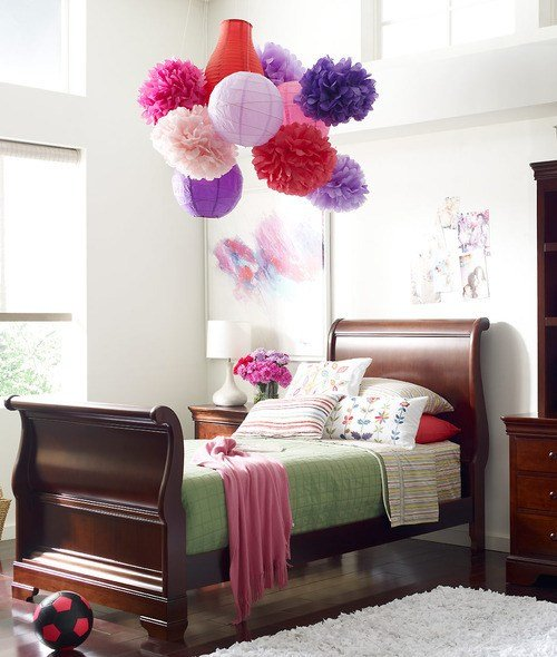 Best Young America Blog • Diy Craft Project Tissue Paper Pompoms With Pictures
