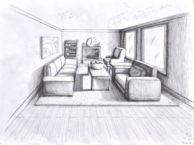 Best Drawn Room Perspective Pencil And In Color Drawn Room With Pictures