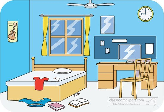 Best Living Room Clipart Tidy Pencil And In Color Living Room With Pictures