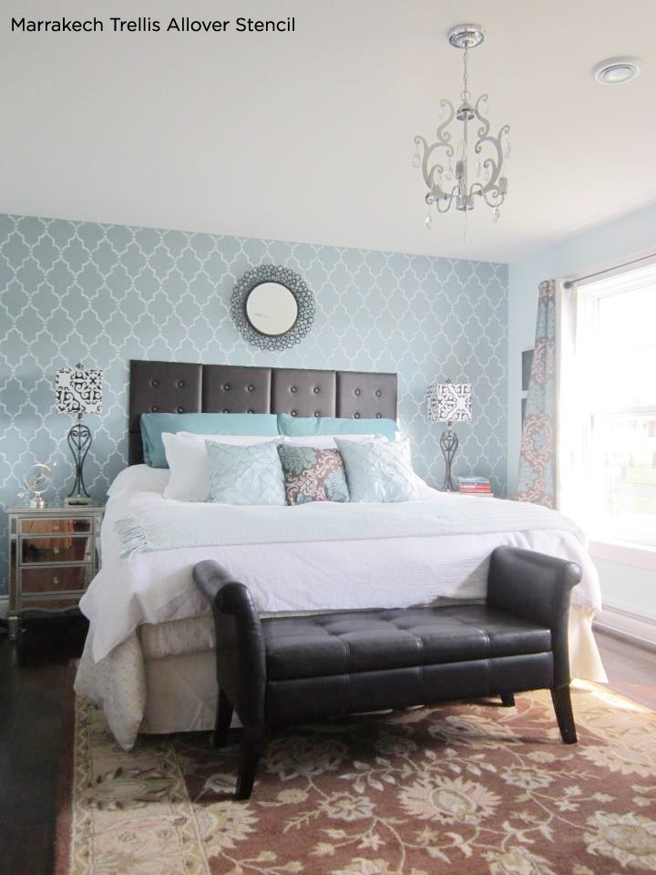 Best Stunningly Stenciled Bedroom Beauties With Pictures