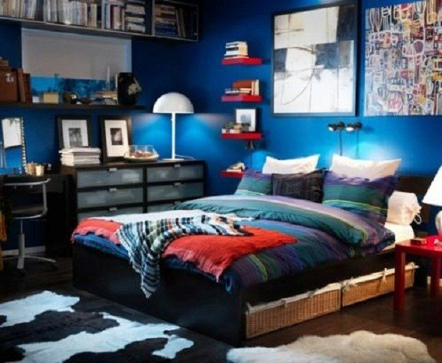Best Bloombety Cool Ideas For Boys Bedrooms Dark Blue Design With Pictures
