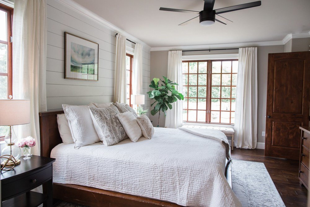 Best White Grey Master Bedroom Reveal The Southern Style Guide With Pictures