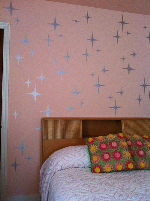 Best Retro Wall Stencils Patterns And Tips From 7 Reader Projects Retro Renovation With Pictures