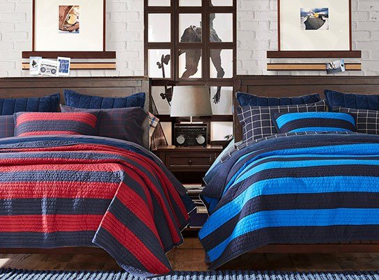 Best Beadboard Rugby Stripe Bedroom Pbteen With Pictures