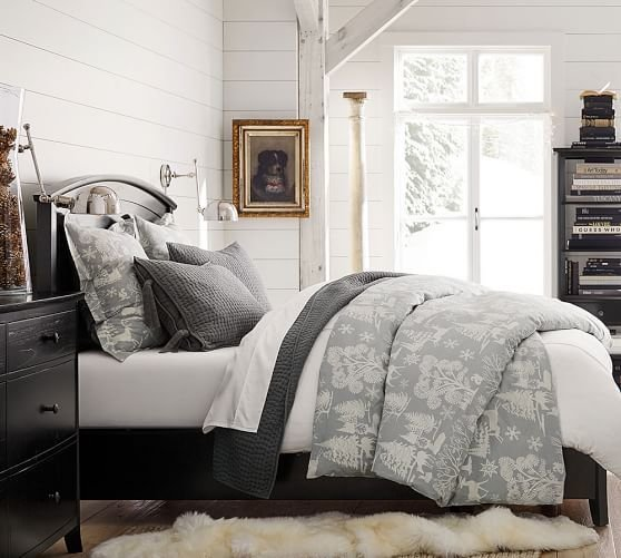 Best Frosted Forest Duvet Cover Sham Pottery Barn With Pictures