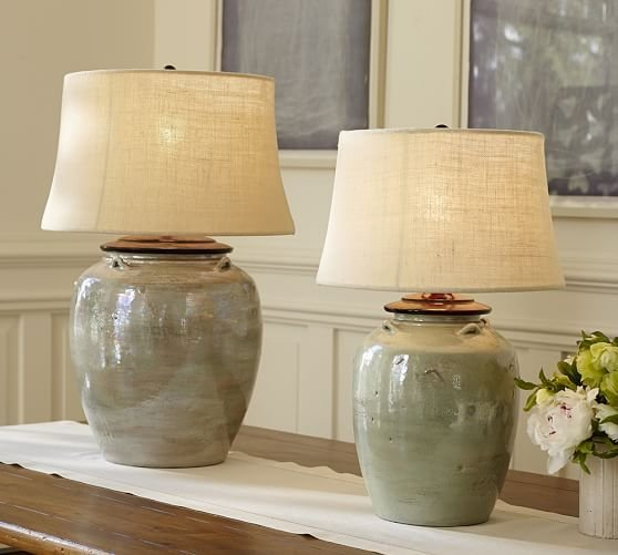 Best Courtney Ceramic Table Lamp Base Blue Pottery Barn With Pictures