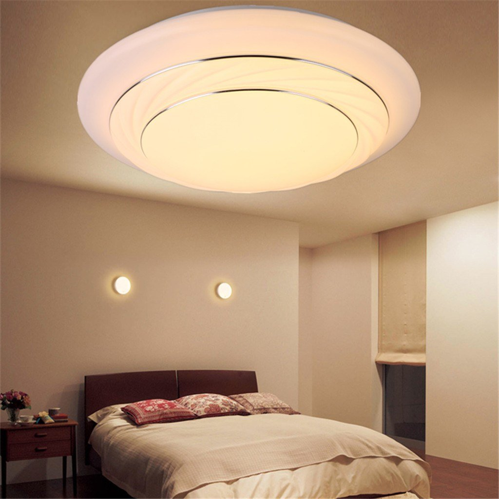 Best Modern Bedroom Led Ceiling Light 24W Living Room Surface Mount Fixture Dimmable Ebay With Pictures