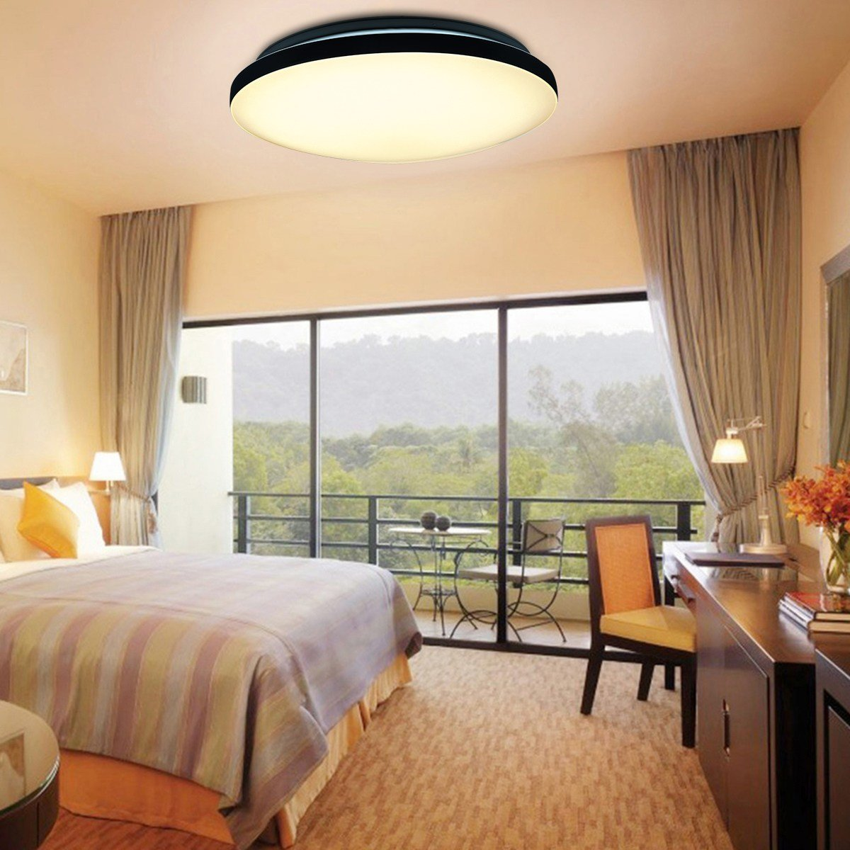 Best 24W Round Led Ceiling Light Flush Mount Fixture Lamp For Kitchen Balcony Bedroom Ebay With Pictures