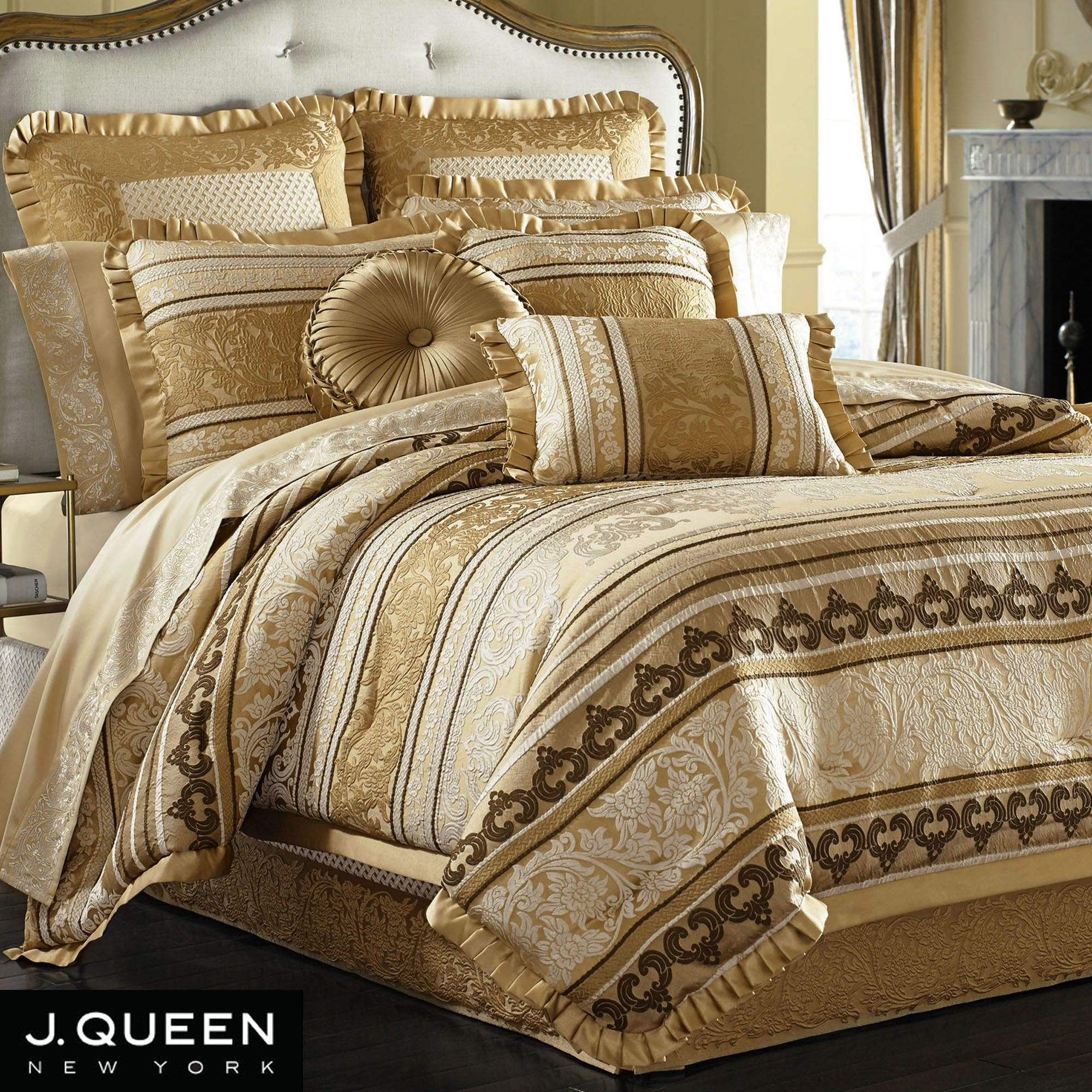 Best Marcello Gold Comforter Bedding By J Queen New York With Pictures