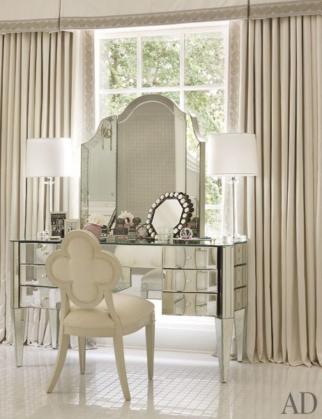 Best Mirrored Vanity Traditional Bedroom Architectural Digest With Pictures