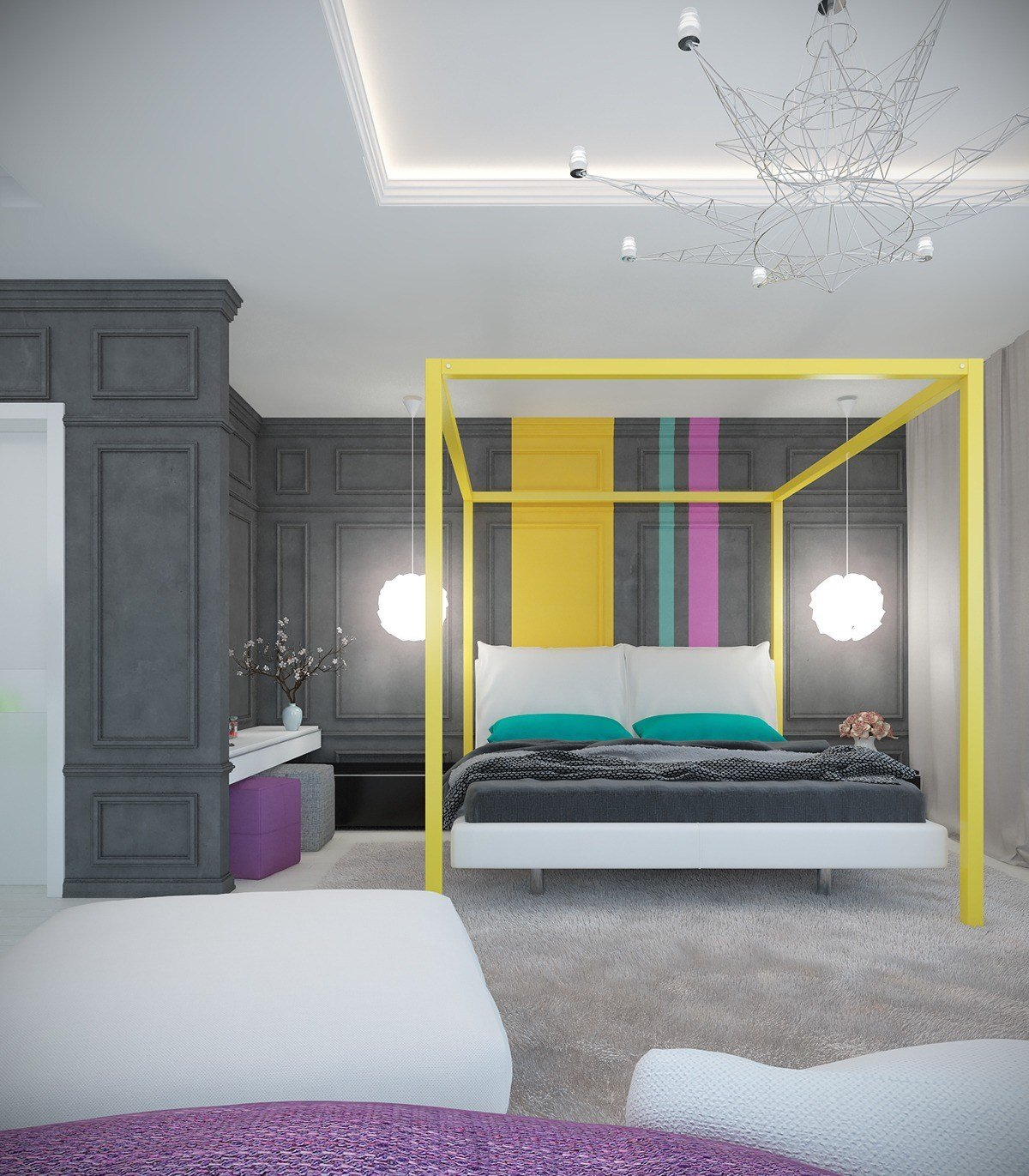 Best A Pair Of Modern Homes With Distinctively Bright Color Themes With Pictures