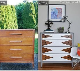 Best Hometalk Before After Modern Triangle Dresser Makeover With Pictures