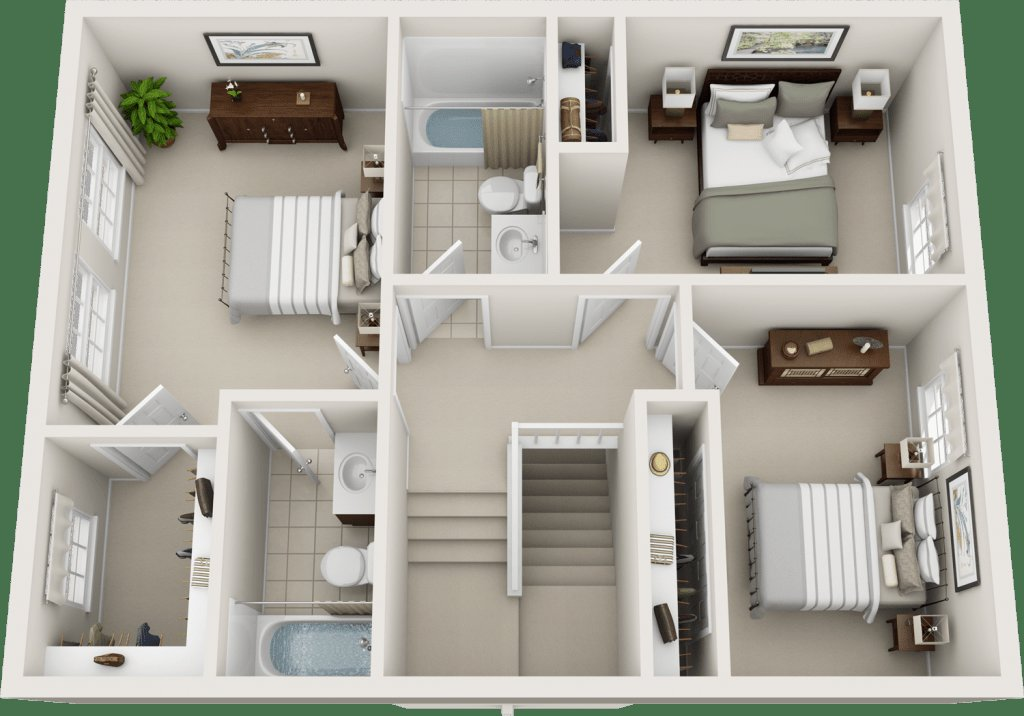Best Three Bedroom Floor Plans Charleston Hall Apartments Murfreesboro Tennessee Apartment Homes With Pictures
