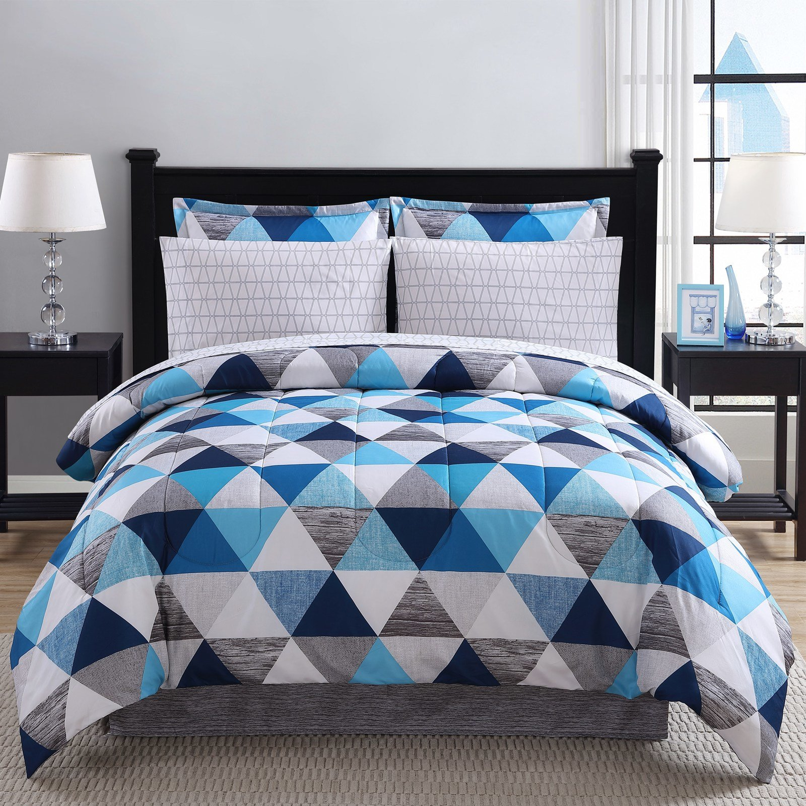 Best Colormate Kaleidoscope Complete Comforter Set Sears With Pictures