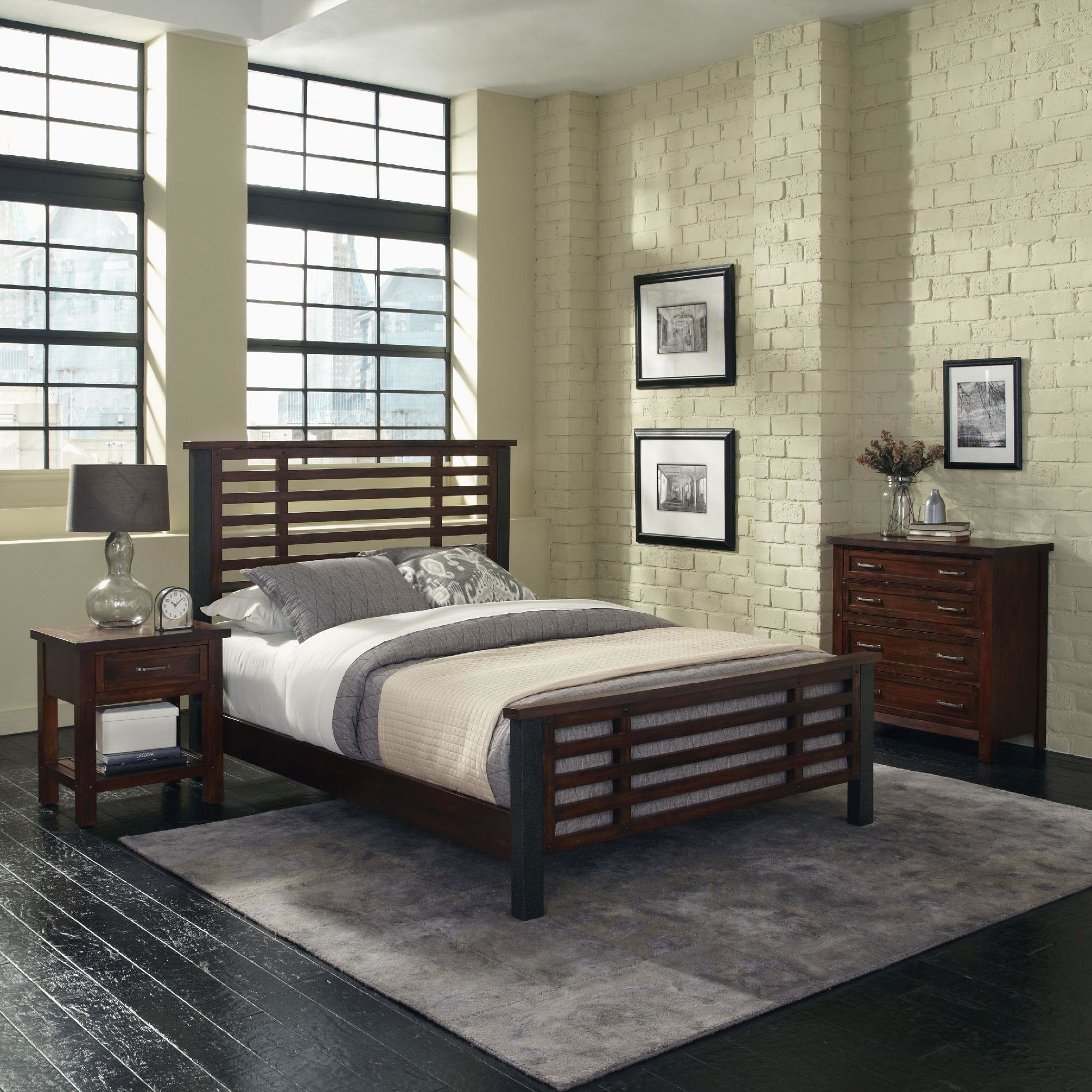 Best Home Styles Cabin Creek King Bed Night Stand And Chest With Pictures