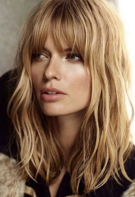 Free Long Hairstyles With Bangs 2019 Wallpaper