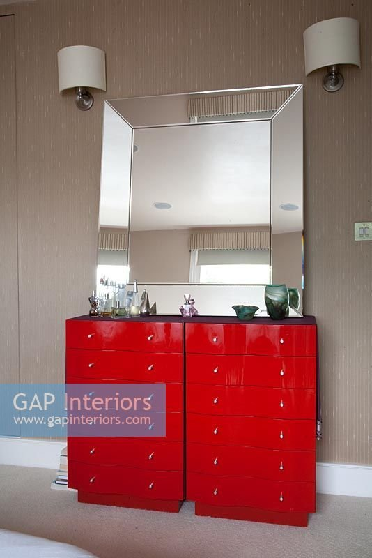 Best Gap Interiors Red Chest Of Drawers In Bedroom Image No With Pictures
