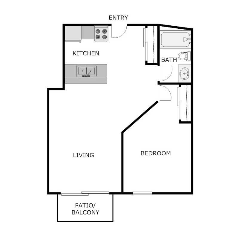 Best 1 Bedroom 1 Bath Apartment Glen Place Apartments With Pictures