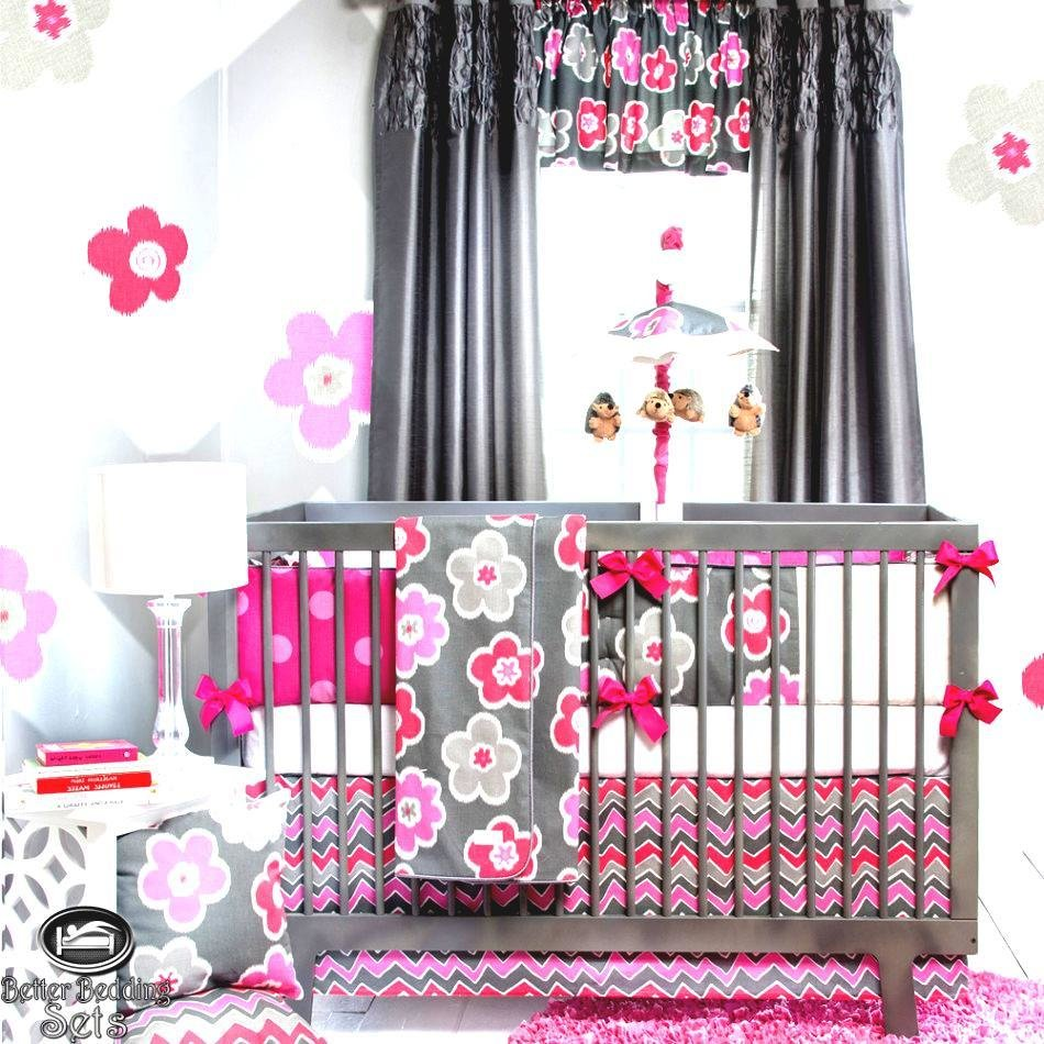 Best Charming Baby Girl Room Grey And Pink With Wonderful With Pictures