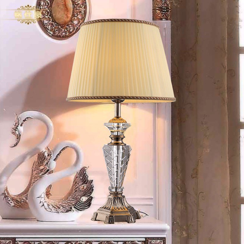 Best European Luxury Style Crystal Table Lamp Bedroom With Pictures