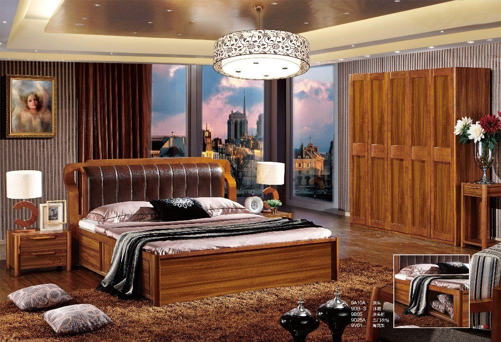 Best 2015 China Modern Wooden Bedroom Furniture Popular Bedroom With Pictures
